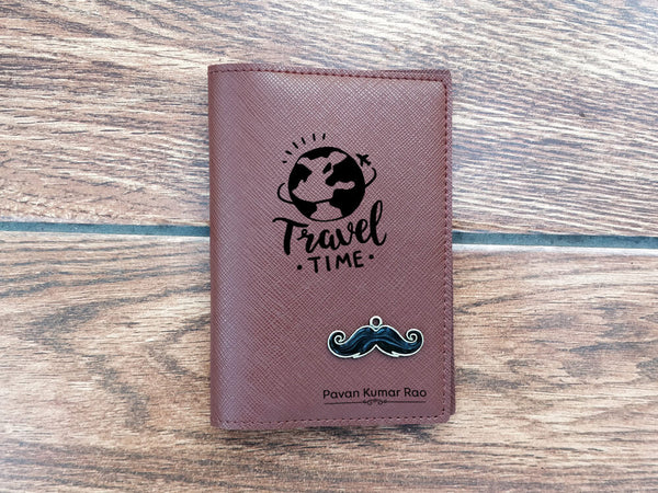 Personalised Passport Cover - Dark Brown (C13)