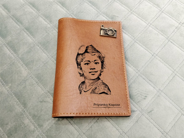 Personalised Passport Cover - Tan Brown (C1)