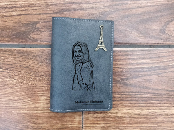 Personalised Passport Cover - Dark Grey (C7)
