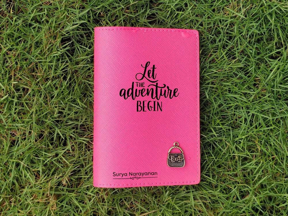 Personalised Passport Cover - Pink (C9)