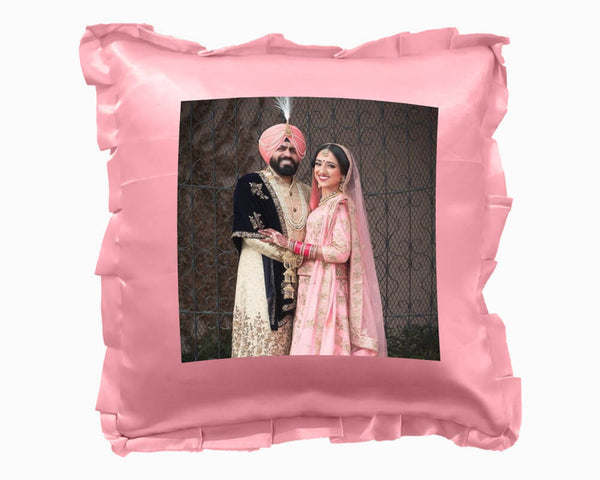 Satin Square Cushion Pink- Large