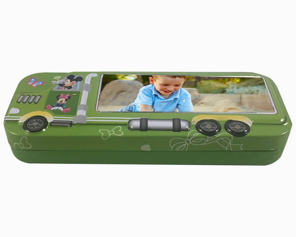 Metallic Pencil Box- Green (Model 103)