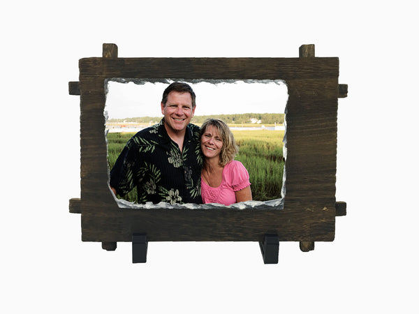 Stone Photo Stand- Wooden Plaque (Wall Hanging) Small - Photo Stand - Wisholize