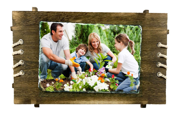 Stone Photo Stand- Wooden Plaque (Wall Hanging) Big - Photo Stand - Wisholize