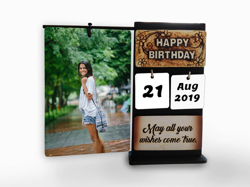 Wooden Table Frame- Birthday (TFW22)