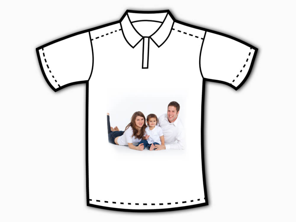 Personalised Collar T-Shirt (Front And Back Printing)