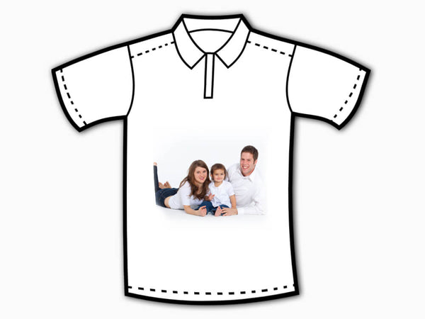 Personalised Collar T-Shirt (Front Printing)