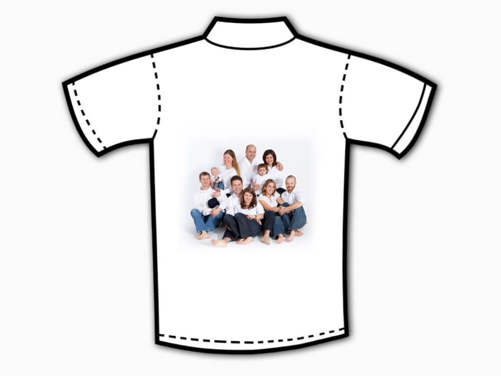Personalised Collar T-Shirt (Back Printing)