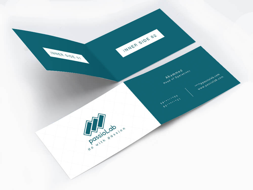 Folding business cards acurnamedia folding business cards reheart Choice Image