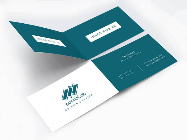 Vertical Half Fold Business Card - Business Card - Wisholize