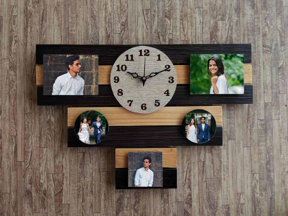 Wooden Wall Clock (5 Photos)