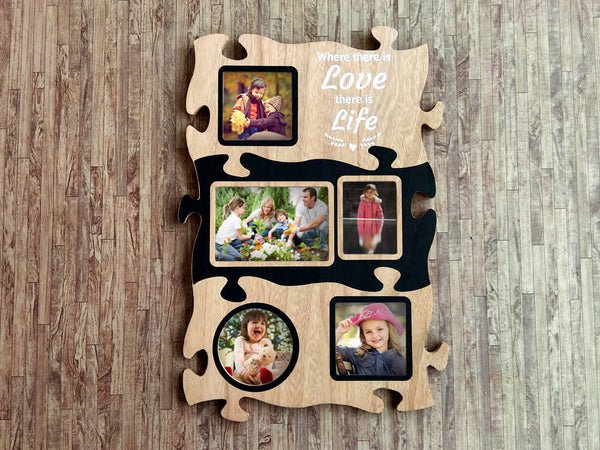 Wooden Wall Hanging Frame (5 Photos)