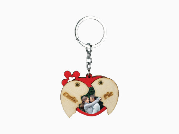 Wooden Folding Key Chain- Heart - Key Chain - Wisholize