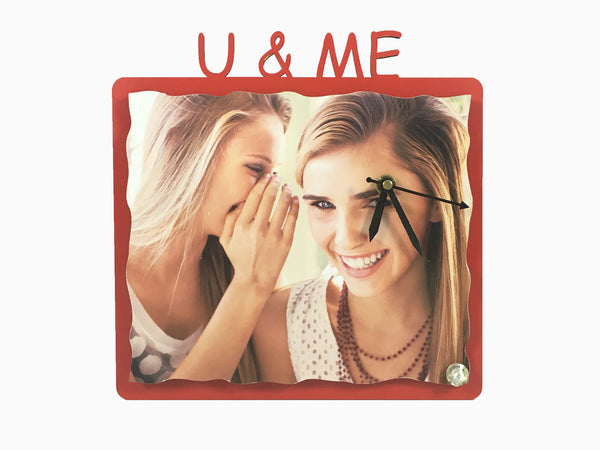 Wooden Table Clock- U & Me - Clock - Wisholize