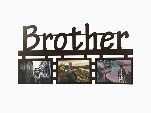 Wooden Wall Hanging Frame- Brother (3 Photos) - Photo Frame - Wisholize - 1