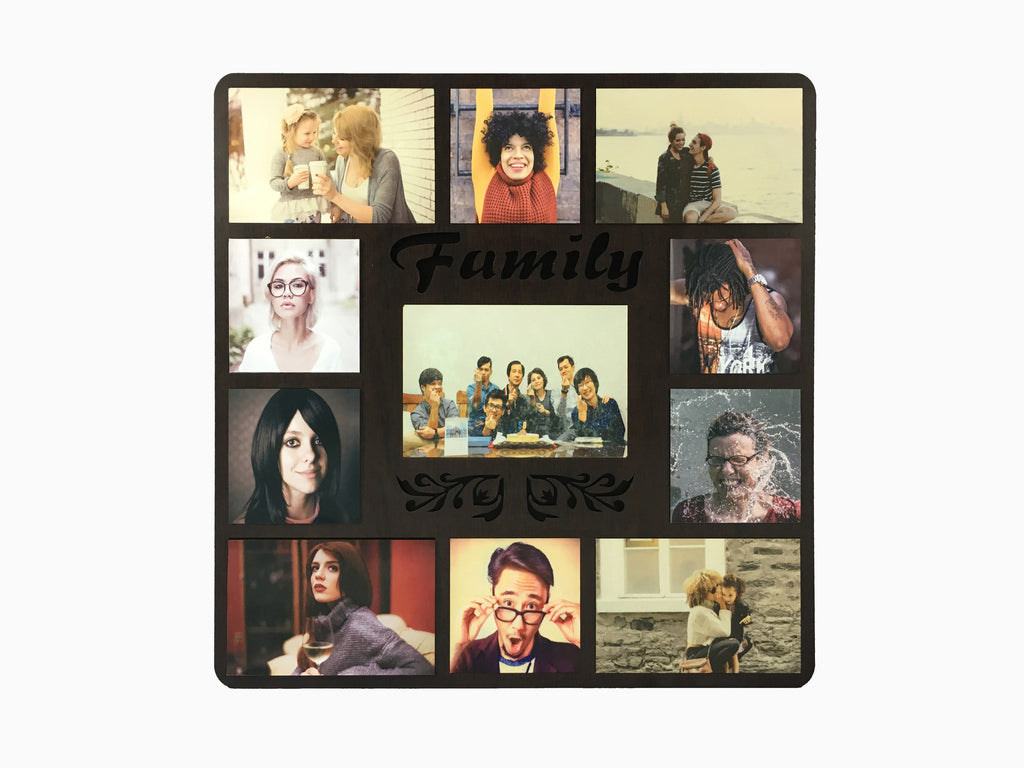 Wooden Wall Hanging Frame- Family (11 Photos) - Photo Frame - Wisholize - 1