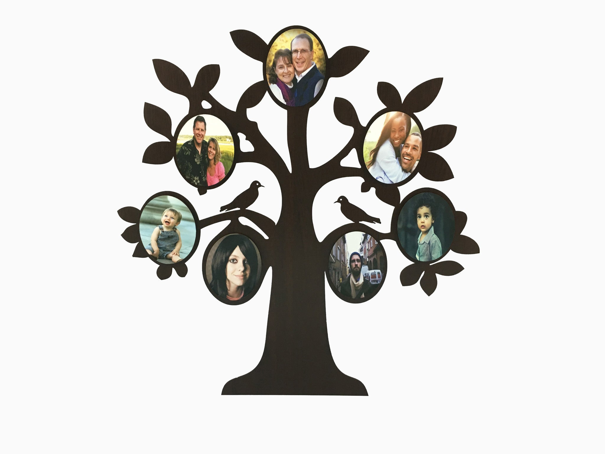 Wooden Wall Hanging Frame  Family Tree (7 Photos)   Photo Frame   Wisholize