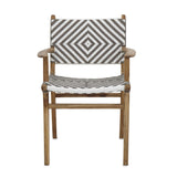 Diamond Weave Rattan & Teak Dining Chair