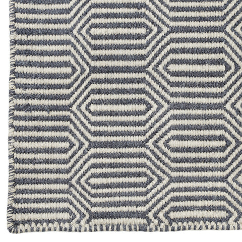 Long Hexagon Dhurrie Rug