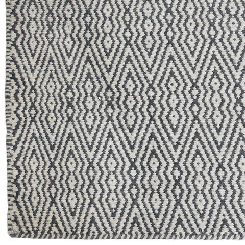 Double Diamond Dhurrie Rug
