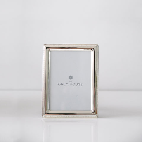 Herringbone Silver-plated photo frame