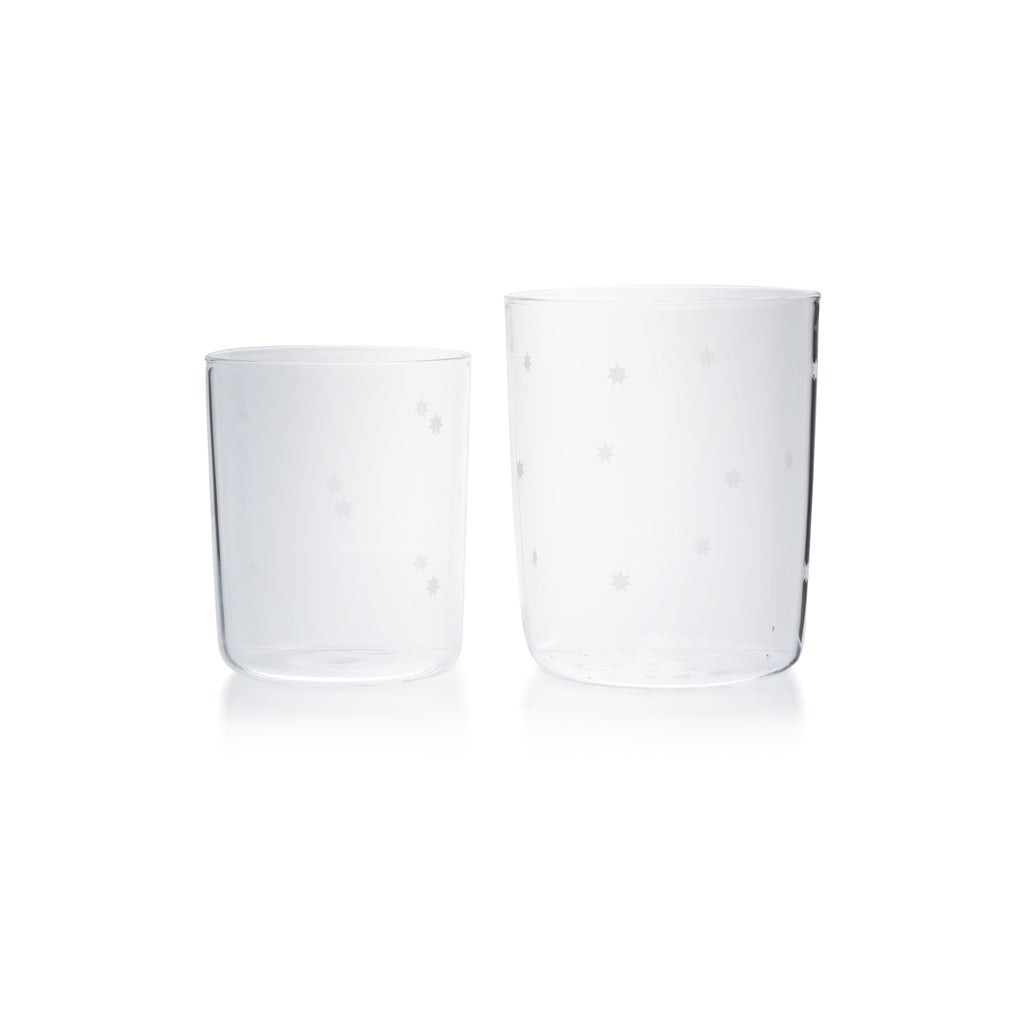 Large Clear Goblets with stars