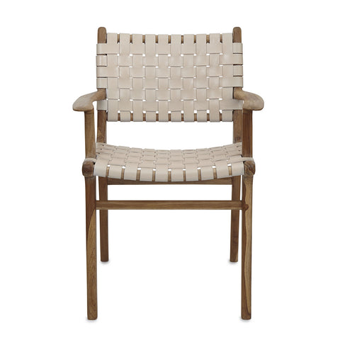 Linen & Teak Lounge Chair