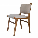 Linen & Teak Dining Chair