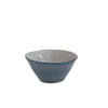 Small Grey and Grapefruit Textured Bowl
