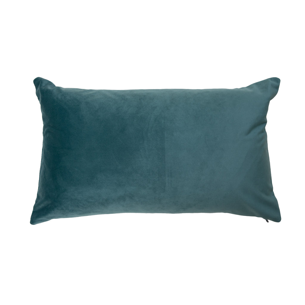Rectangular Green Velvet Cushion