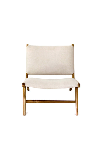 Diamond Weave Rattan & Teak Bar Stool