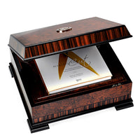 "J.H. Cutler hand crafted night cap presentation box for ""Making the Cut"""