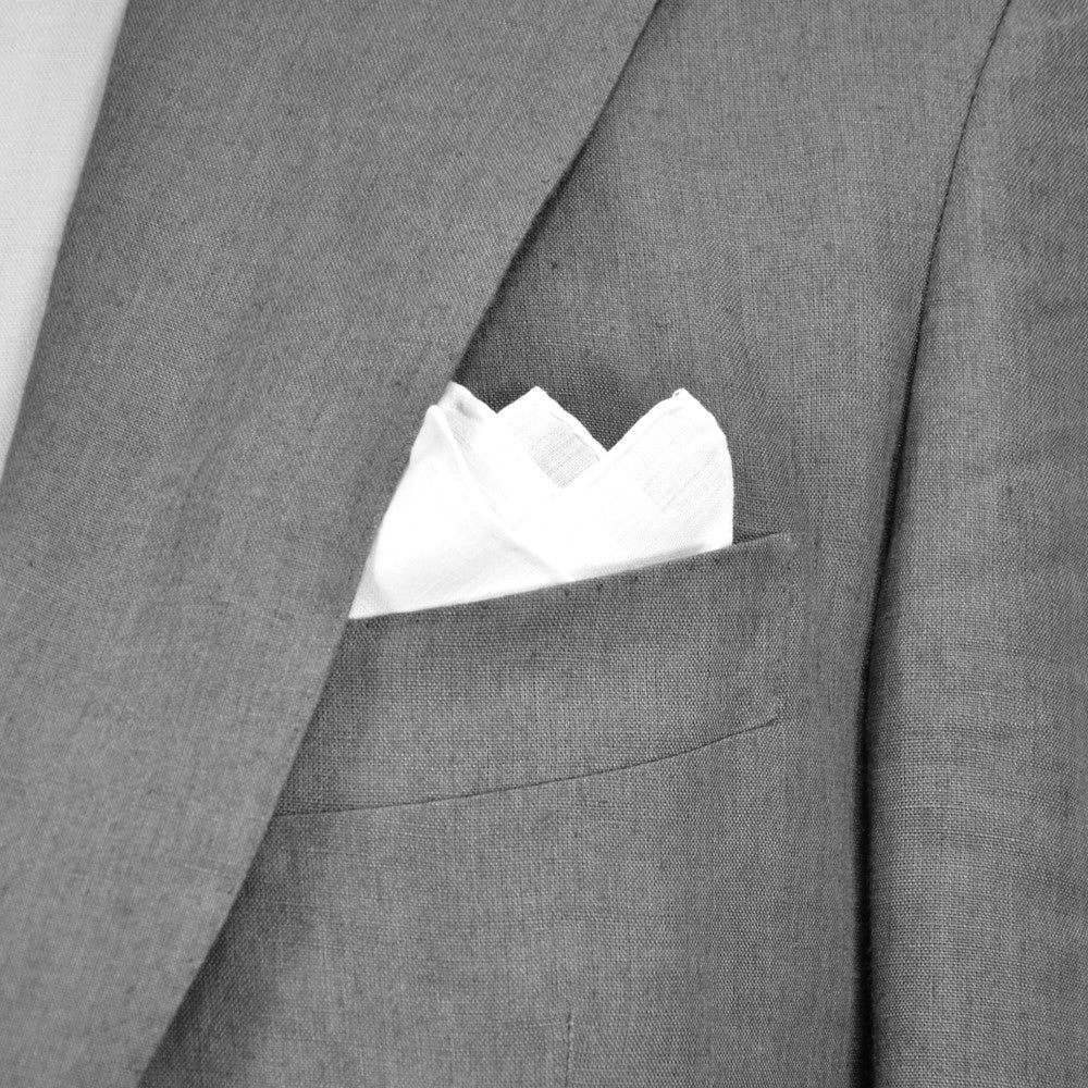 Hand rolled Irish linen pocket square
