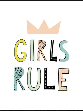 Girls Rule Print