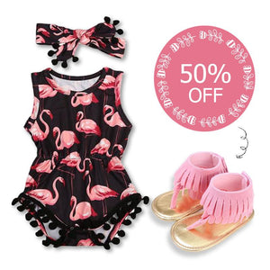Flamingo Romper Set + 50% OFF Sandals