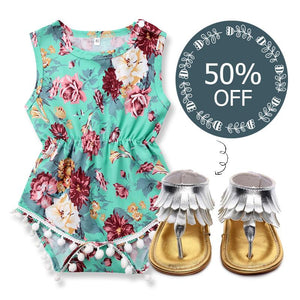 Haley Floral Romper + 50% OFF Sandals