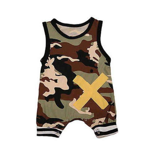 Cross Camouflage Jumpsuit