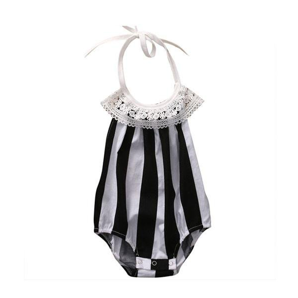 Stripes Lace Sunsuit