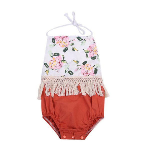 Floral Halter Sunsuit