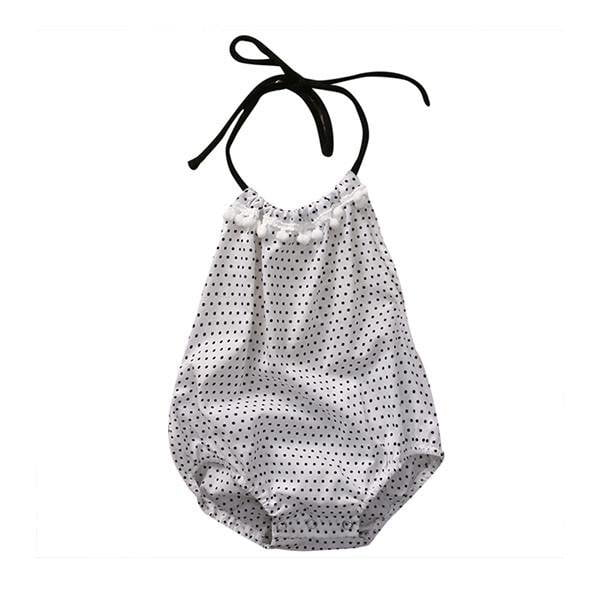 Polka Dots Halter Sunsuit