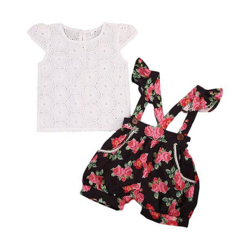 Amy Floral Romper Set