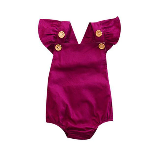 Purple Back Cross Sunsuit