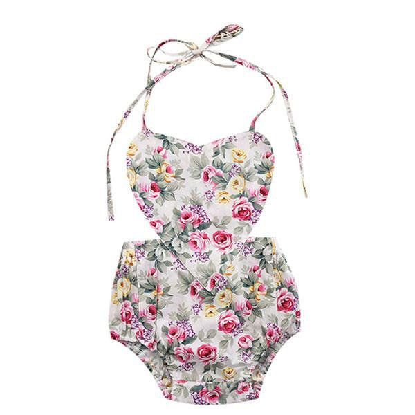 Green Heart Floral Sunsuit