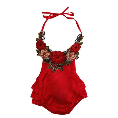 Blooms Halter Sunsuit