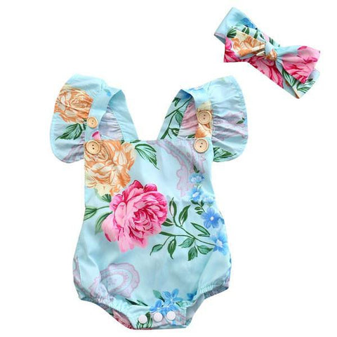 Allison Floral Sunsuit Set