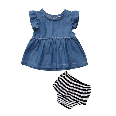 Denim Stripes Set
