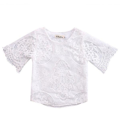 Laced Floral Top