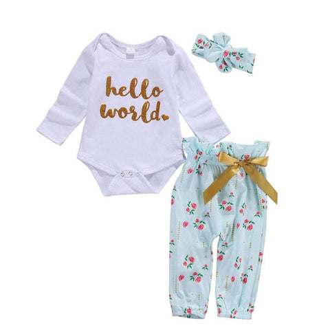 Hello World Floral Set