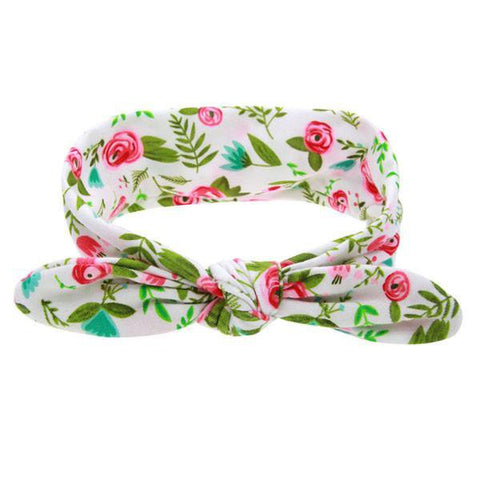 Pink Roses Top Knot Headband