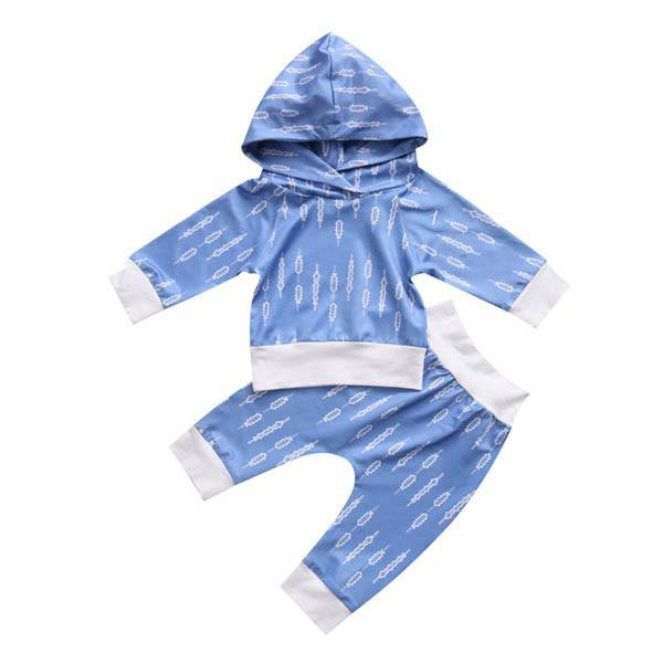 Blue Arrow Hoodie Set